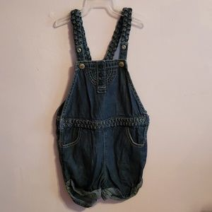 Blue Jean Overalls Shorts
